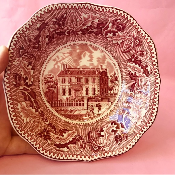 Vintage Other - Antique Historic America porcelain dish